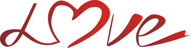 Illustrazione: amore - fonte tipografica originale Fotografia Stock Libera da Diritti