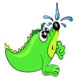 Illustrazione animale del fumetto della doccia Fotografie Stock