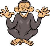 Illustrazione animale del fumetto della scimmia dello scimpanzè Fotografia Stock Libera da Diritti