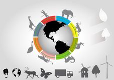 Illustrazione animale del pianeta isolata su bianco Immagine Stock
