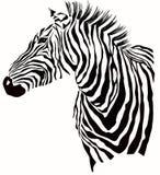 Illustrazione animale della siluetta della zebra Fotografie Stock Libere da Diritti