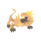 Illustrazione animale mitica e fantastica del mostro del drago, di vettore illustrazione di stock