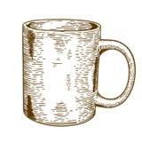 Illustrazione antica dell'incisione della tazza Fotografia Stock