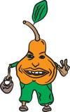 Illustrazione arancio di sorriso della pera illustrazione vettoriale