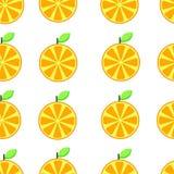 Illustrazione arancio di vettore del fondo della fetta del modello senza cuciture illustrazione vettoriale