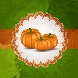 Illustrazione arancio di vettore del fondo della zucca Fotografia Stock Libera da Diritti