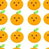 Illustrazione arancio sveglia di vettore del fondo del modello senza cuciture royalty illustrazione gratis