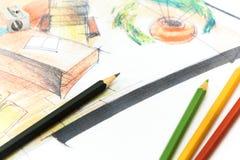 Illustrazione architettonica royalty illustrazione gratis