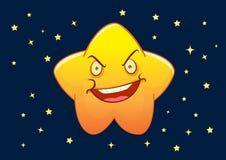 Illustrazione arrabbiata del personaggio dei cartoni animati della stella Fotografie Stock