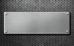 Illustrazione arrugginita del piatto 3d del metallo fotografie stock libere da diritti