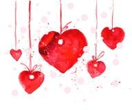 Illustrazione artistica di simbolo del cuore dell'acquerello di vettore Fotografia Stock Libera da Diritti
