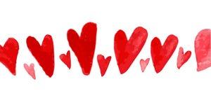 Illustrazione artistica di simbolo del cuore dell'acquerello di vettore Immagini Stock
