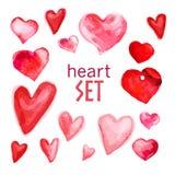 Illustrazione artistica di simbolo del cuore dell'acquerello di vettore Fotografie Stock