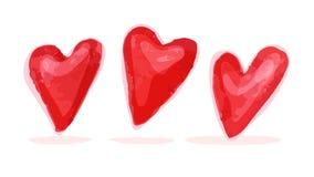 Illustrazione artistica di simbolo del cuore dell'acquerello di vettore Immagine Stock Libera da Diritti