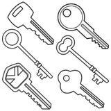 Illustrazione assortita di chiavi Fotografie Stock Libere da Diritti