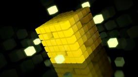 Illustrazione astratta 3d del cubo variopinto Fotografia Stock