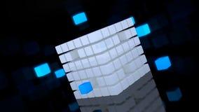 Illustrazione astratta 3d del cubo variopinto sulla lucentezza Immagine Stock