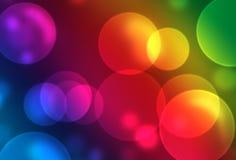 Illustrazione astratta con gli indicatori luminosi Fotografia Stock