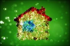 Illustrazione astratta 3d della casa dalle bolle Fotografie Stock Libere da Diritti