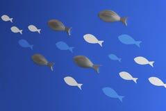 Illustrazione astratta dei pesci Fotografie Stock Libere da Diritti