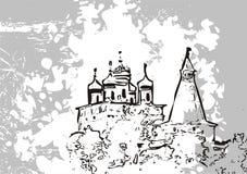 Illustrazione astratta del castello illustrazione vettoriale