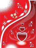 Illustrazione astratta del cuore Fotografia Stock