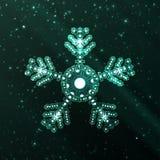 Illustrazione astratta del fiocco di neve di fantasia Immagini Stock