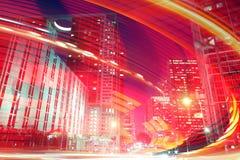 Illustrazione astratta del fondo di moto veloce di traffico Fotografia Stock