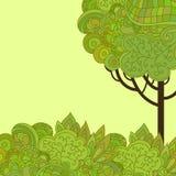 Illustrazione astratta dell'albero Fotografie Stock