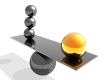 Illustrazione astratta dell'equilibrio 3d Fotografie Stock Libere da Diritti