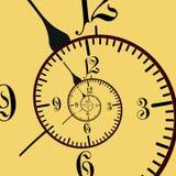 Illustrazione astratta dell'orologio fotografia stock libera da diritti