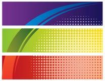 Illustrazione astratta della bandiera di colore   Immagini Stock