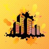 Illustrazione astratta della città Fotografia Stock Libera da Diritti