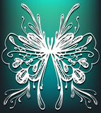 Illustrazione astratta della farfalla Fotografia Stock