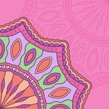 Illustrazione astratta della mandala etnica dell'ornamento Fotografie Stock