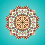 Illustrazione astratta della mandala etnica dell'ornamento Fotografia Stock Libera da Diritti