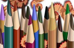 Illustrazione astratta della matita Fotografia Stock Libera da Diritti