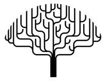 Illustrazione astratta della siluetta dell'albero Fotografie Stock Libere da Diritti