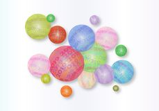 Illustrazione astratta delle palle 2019 fotografia stock