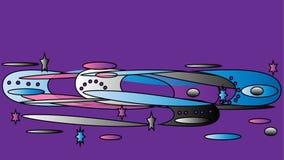 illustrazione astratta dello spazio di vettore galassia, l'universo Immagine Stock Libera da Diritti