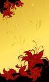 Illustrazione astratta di cerimonia nuziale del fiore   Fotografie Stock
