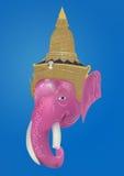Illustrazione astratta di concetto della testa di ganesha Immagini Stock