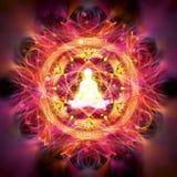 Illustrazione astratta di meditazione Fotografia Stock