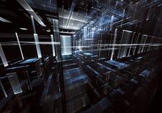 Illustrazione astratta di tecnologia 3D Fotografia Stock Libera da Diritti