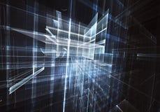 Illustrazione astratta di tecnologia 3D Fotografie Stock Libere da Diritti