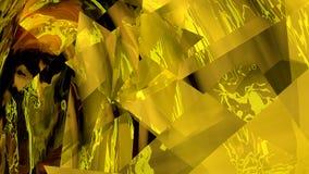 Illustrazione astratta di un fondo giallo Fotografia Stock Libera da Diritti