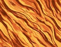 Illustrazione astratta di un fuoco bruciante con le fiamme gialle selvagge Immagine Stock Libera da Diritti