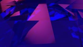 illustrazione astratta di un vetro blu di luminescenza di background Fotografia Stock