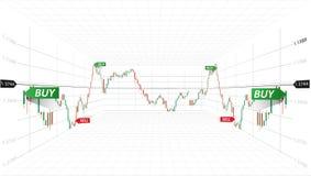 Illustrazione astratta di vettore Dati del mercato finanziario Concetto commerciale dei forex Simbolo di borsa valori illustrazio Fotografia Stock Libera da Diritti