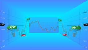 Illustrazione astratta di vettore Dati del mercato finanziario Concetto commerciale dei forex Simbolo di borsa valori 3d Fotografie Stock Libere da Diritti